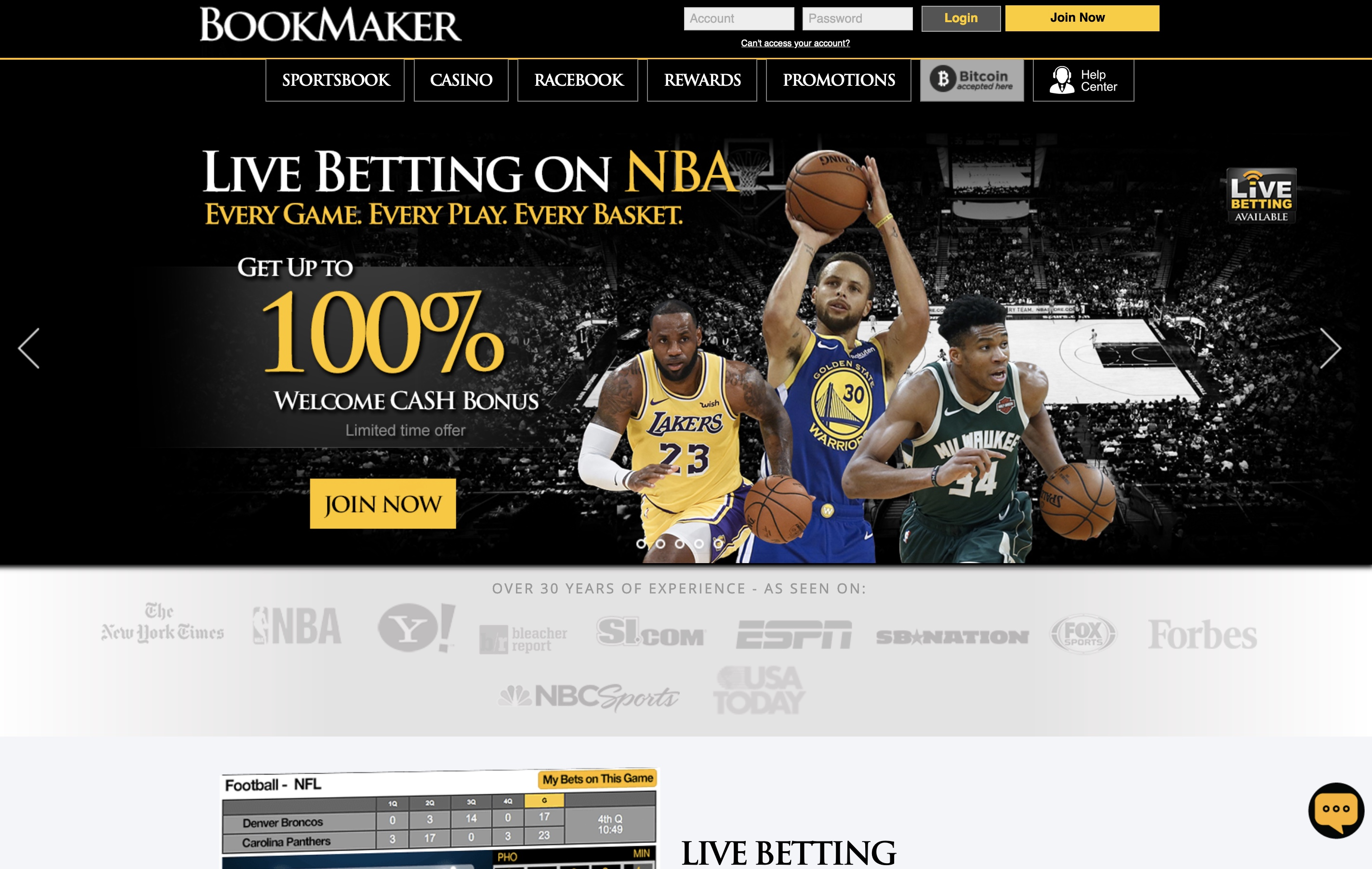 BookMaker Sportsbook Review