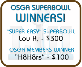 Super Bowl Contest winners