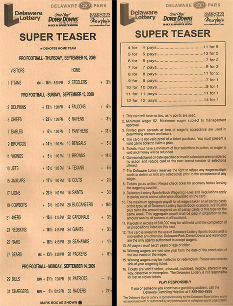 football parlay card template
