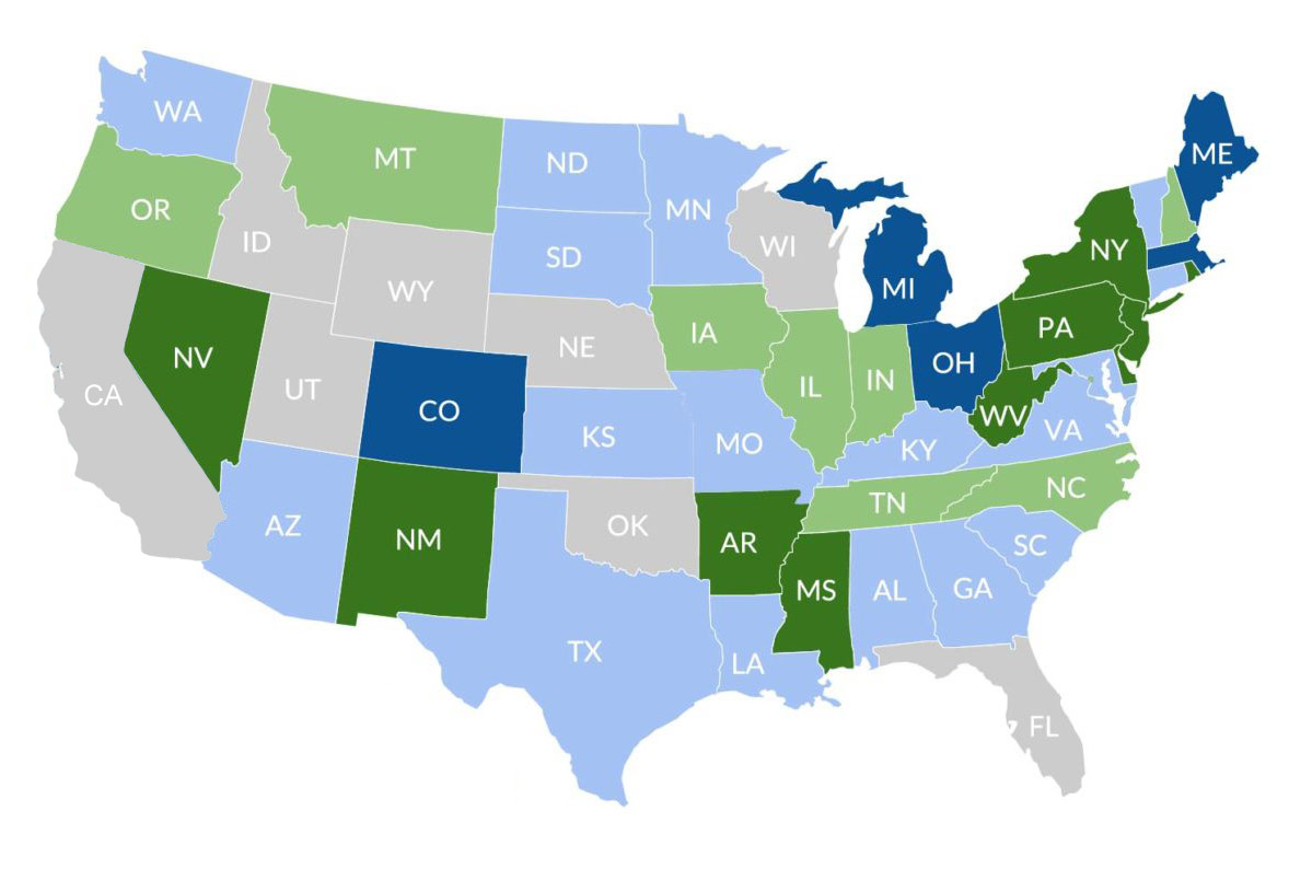 US states with sports betting
