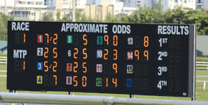 Tote board horse racing PPH
